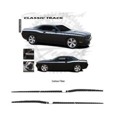 Dodge Challenger 2008-2010 Track Style Side Stripe Graphic Kit - Carbon Fiber