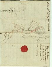 K24-INGHILTERRA, LONDRA, INCOMING MAIL, PREF. PER ROMA, ANGLETERRE IN ROSSO,1826