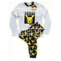 NEW Pikachu POKEMON Kids/boys winter fleece Top&Pyjama set Pjs Primark 7-15yrs