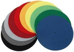 "Pro-Ject (Project) Coloured Felt Turntable Platter Mat (Orange) - 12"""