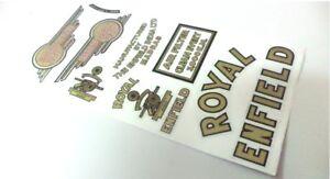 Royal Enfield Sticker Logo Badge Emblem Monogram Set