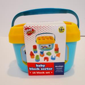 Play Right Baby Block Sorter 16 Block Set 18mo+ Developmental Infant Toy