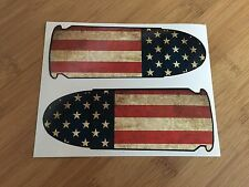 Two Distressed American Flag 45 ACP Bullets printed stickers decal 2A pistol gun