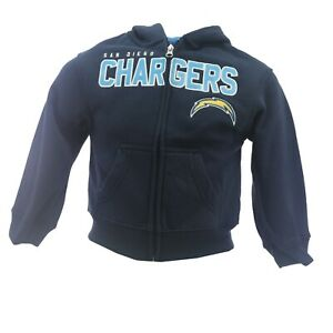Los Angeles Chargers Official NFL Youth Kids Size Full Zip Hooded Sweatshirt New