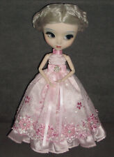 Prinzessin Kleid Outfit für Pullip oder Blythe 2-teilig Kleid und Unterrock