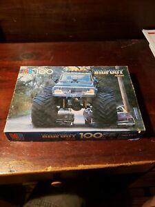 MB 100 Piece Puzzle Bigfoot 4x4x4 Vintage 1984 Complete. Check Pics