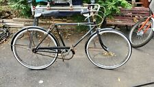 SCHWINN RACER BLACK 3-SPEED ROAD CRUISER BICYCLE VINTAGE COLLEGIATE S5 60s
