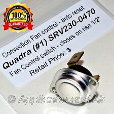 Interrupteur Quadra-Fire # 1 # 230-0470 Limite du ventilateur du poêle à granulés Snap Disc + instructions