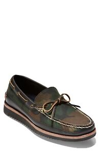 Cole Haan Pinch Rugged Camp Moccasins Men's Boat Shoes Camouflage Size 11 M