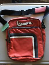 VESPA FAUX LEATHER MESSENGER LAPTOP COMMUTER BAG  $98 MSRP Red NEW WITH TAGS!