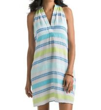 6c8c0b1c97 Vineyard Vines SzM Notch Neck Beachcomber Stripe Cover-up Dress Lemon Lime