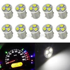 10pcs Instrument Panel Light Bulb BA9S Mini Bayonet Base 12v  White For Ford
