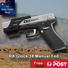 Ren Xiang RX Glock 18 Silver Manual Magazine Fed Gel Ball Blaster