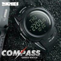 SKMEI Men's Tactics Army Sport Digital Wrist Watch Alarm Date Countdown Compass