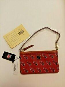 NFL Football Arizona Cardinals Red Dooney & Bourke Zipper Wallet Purse w/ Strap