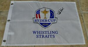 Ryder Cup 2020 Whistling Straits Official Golf Flag Signed By Victor Hovland