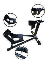 "Black Motorbike Front Stay Wheel Chock Paddock Garage Stand Motorcycle 15-19"" UK"