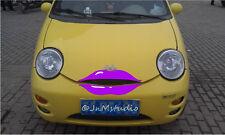 New car purple lip sticker for Chery Q3,funny car eyelash stickers