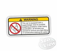 Supercharger Car Van Stickers Decal Funny Sticker Adult Engine Turbo