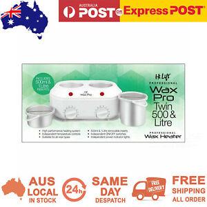 Hi Lift Twin Kompact Wax Waxing Pot Heater 1 Litre & 500ml Removable Inserts