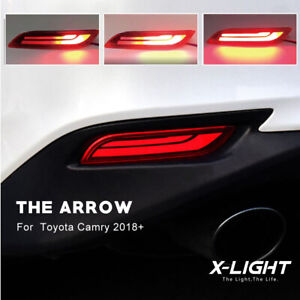 LED Bumper Reflector Tail & Brake & Turn Signal Lights For 2018-up Toyota Camry