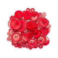 40g Red series Resin Buttons for Sewing Scrapbooking Home Crafts Decor 9-30mm