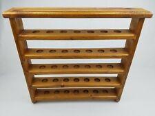 "Wood Golf Ball Rack Display Shelf 35 Balls Collection Wall Hanging Case 17"""