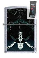 Zippo 7216 gothic demon street chrome Lighter + FLINT PACK