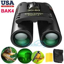 30x60 Military Binoculars Day/Night Bak4 Optics Hunting Camping Waterproof+Bag