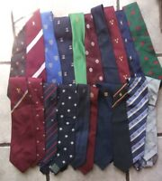 Job Lot 50 X MENS Vintage Club Association Crested Tie 1960s 1970s 1980s JOBLOT