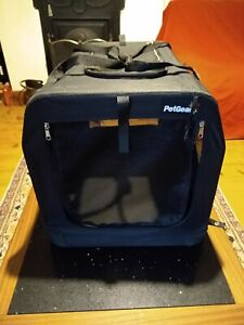 Pet gear canvas travel pet carrier cage