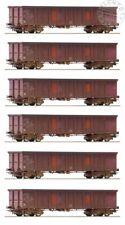 ROCO 75975 set 6 carri merci lunghi aperti DB AG INVECCHIATI - ep. VI