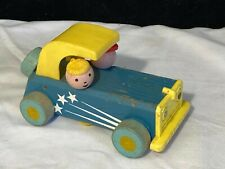 Vintage Fisher Price Wood Sports Car 674
