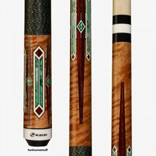 G-4122 PLAYERS ART DECO TIGER MAPLE BILLIARD TABLE POOL CUE STICK + FREE CASE