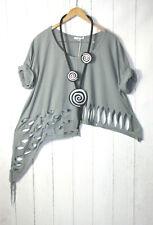 Moonshine Tunika Bluse  Gr.  48 50 52  Lagenlook Grau Neu