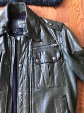 Energie men leather Bomber jacket size small