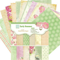 "12pcs 6"" Floral Paper Pad Single-sided Scrapbooking DIY Planner Album Card Craft"