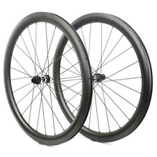 700C 47mm Carbon Road Bike Wheels Tubeless Ready For Cycle Cross Wheelset