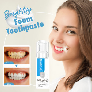 Brightify Deep Cleaning Foam Toothpaste 60ML Soda Mousse Teeth Stain Remove