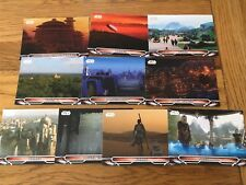 Star Wars Galactic Files Reborn Complete 10 Card Locations Chase Set L1 - L10