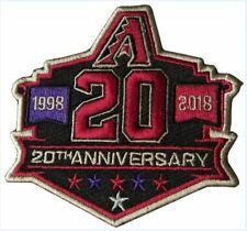 ARIZONA DIAMONDBACKS PATCH 20TH ANNIVERSARY TEAM STYLE JERSEY MLB WORLD SERIES