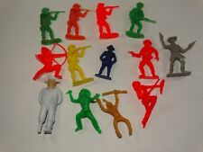 Cowboy and Indian toy soldier set 60mm, set of 13