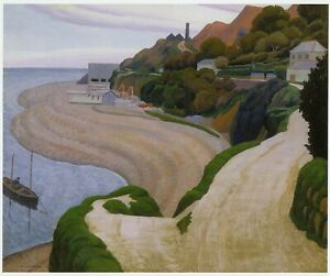 Newlyn & Mousehole Road Ernest Proctor print in 11 x 14 mount ready to frame
