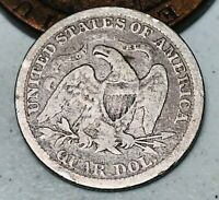 1875 Seated Liberty Quarter 25C Higher Grade Good Date 90% Silver US Coin CC4554