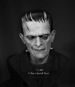 Boris Karloff Life-Size Resin Bust - UNPAINTED - Frankenstein 1931