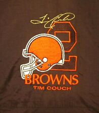 CLEVELAND BROWNS lrg nylon Tim Couch football hooded jacket Pro Star quarterback