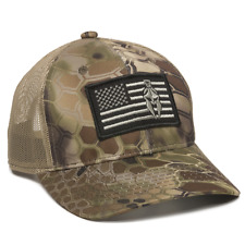 Kryptek Highlander USA Flag Patch Mesh Back Fishing Hunting Military Cap 6715c03c092b
