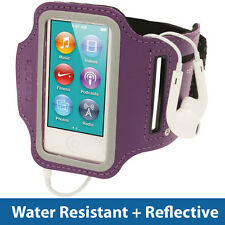 Purple Sports Jogging Gym Armband for New Apple iPod Nano 7th Generation 7G