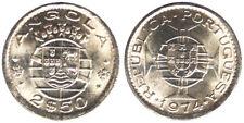 2-1/2 ESCUDOS 1974 ANGOLA PORTOGHESE PORTUGUESE COLONY Fdc Unc #2917A