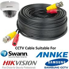 25M Black BNC DC CCTV Security Video Camera DVR Record Hikvision Power Cable New